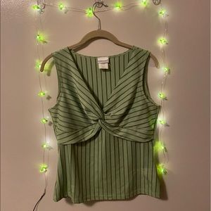 green and navy striped Fashion Bug tank
